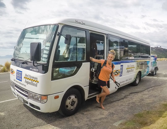 Bus transport to the Abel Tasman - How to get here