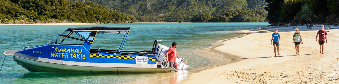 Marahau Water Taxis - Water taxi transport in the Abel Tasman National Park